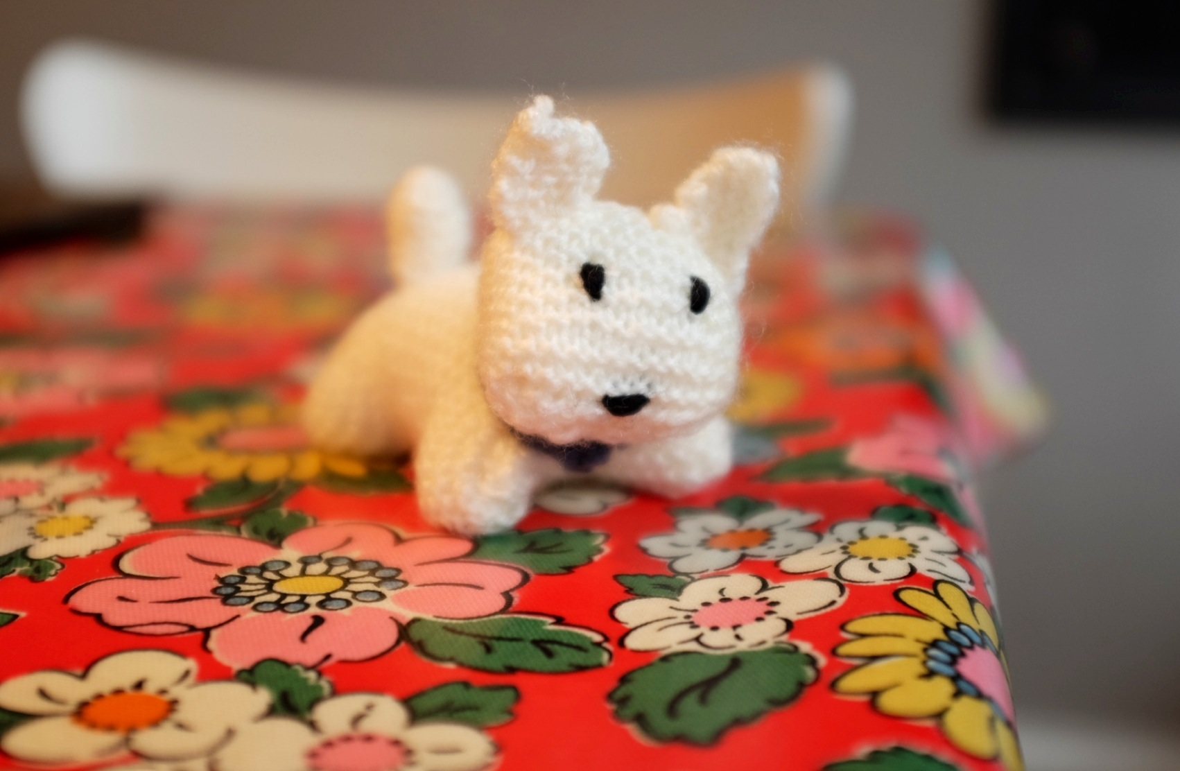 knitted westie