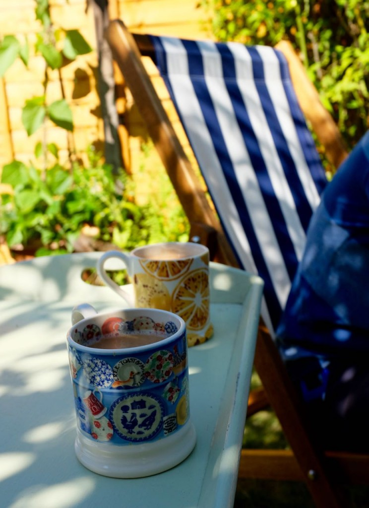 Deckchair and tea