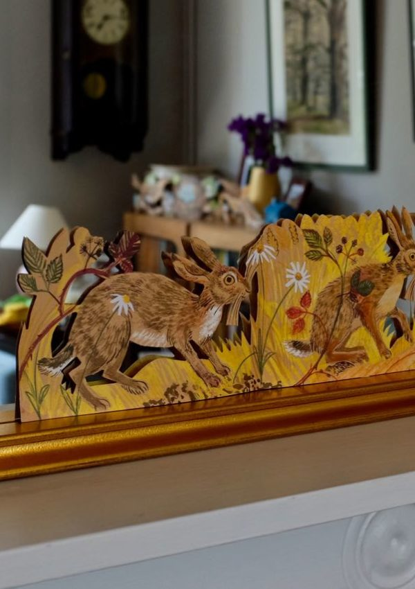 A Mark Hearld-inspired mantelpiece