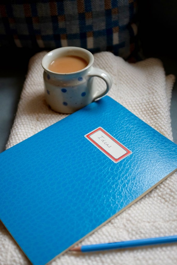 Notebook and tea