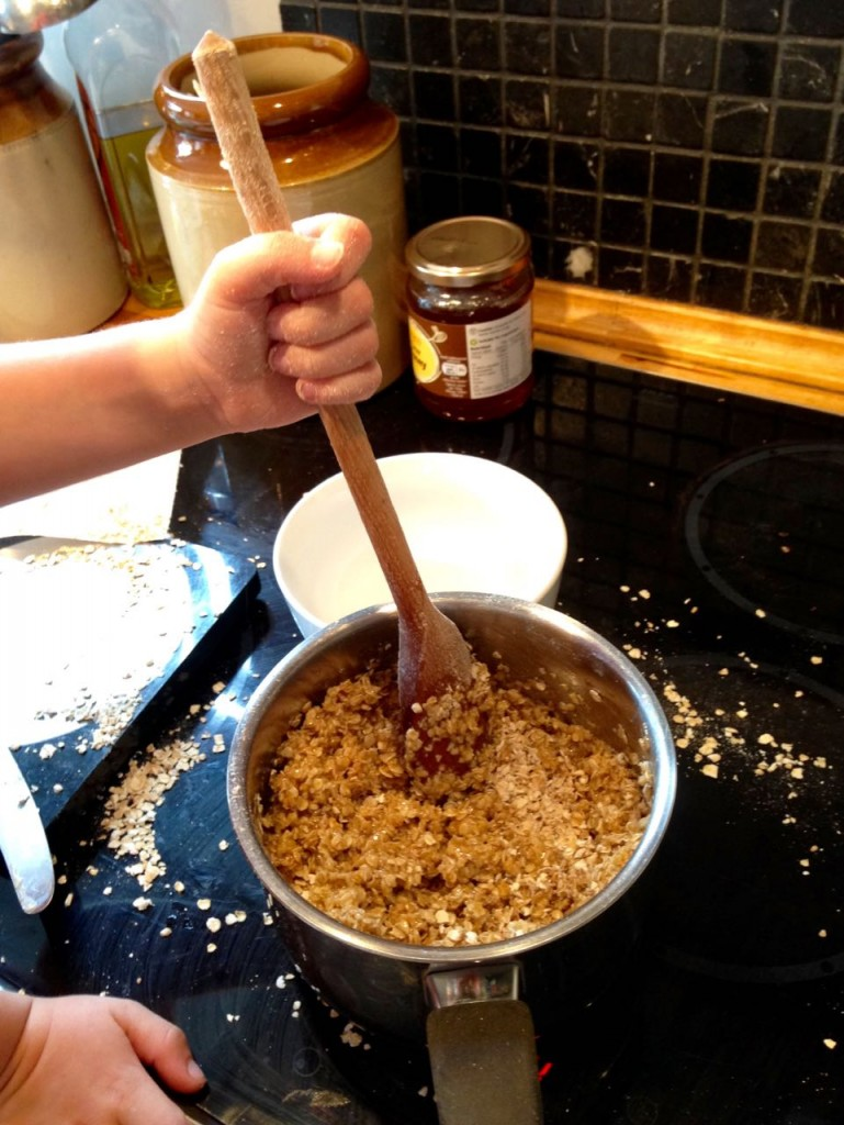 Making flapjacks with children