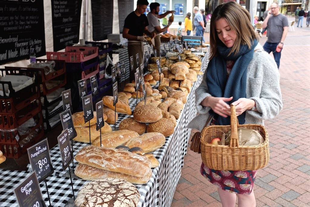 Ely market bread stall
