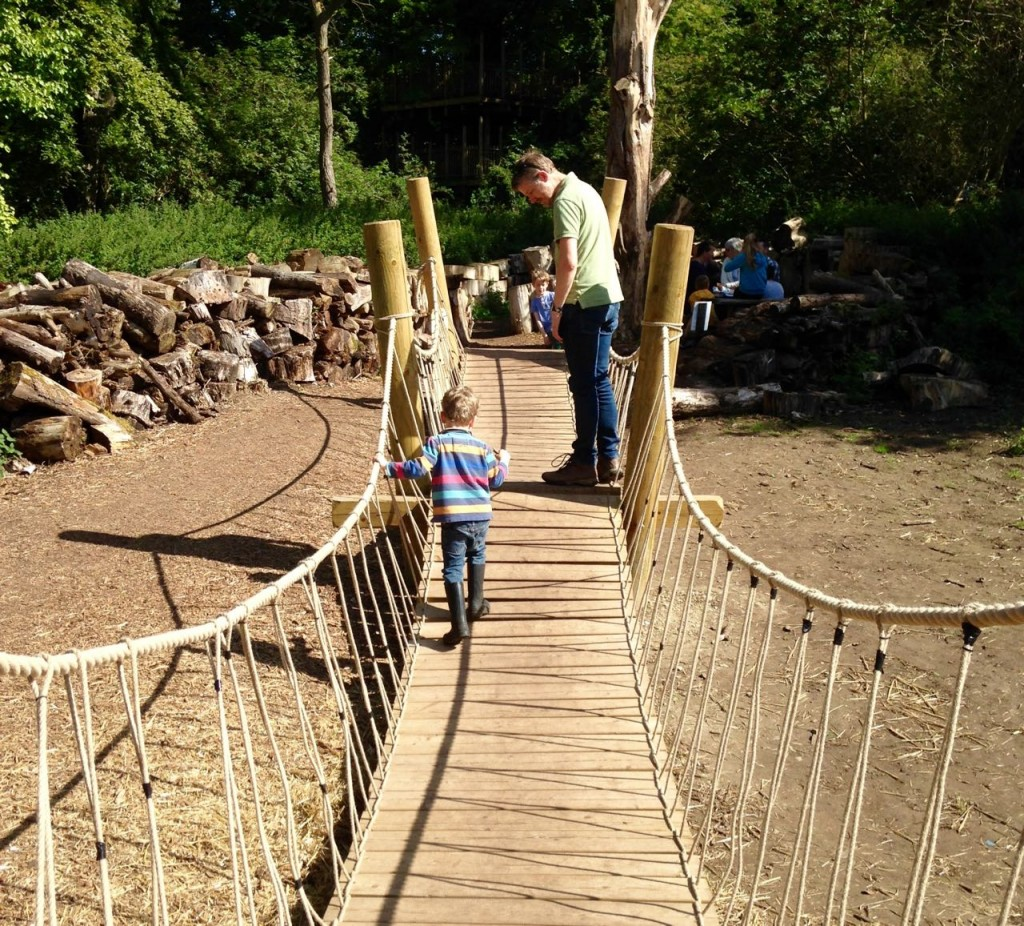 Wobbly bridge at Anglesey Abbey