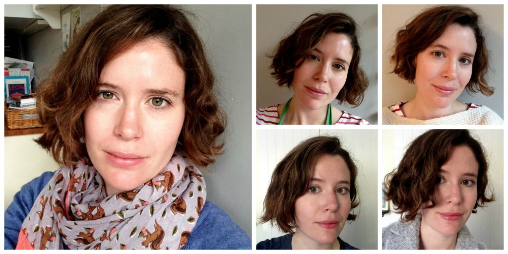 Curly hair collage