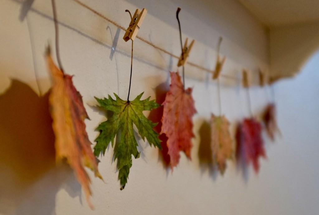 Autumn leaf garland, or string
