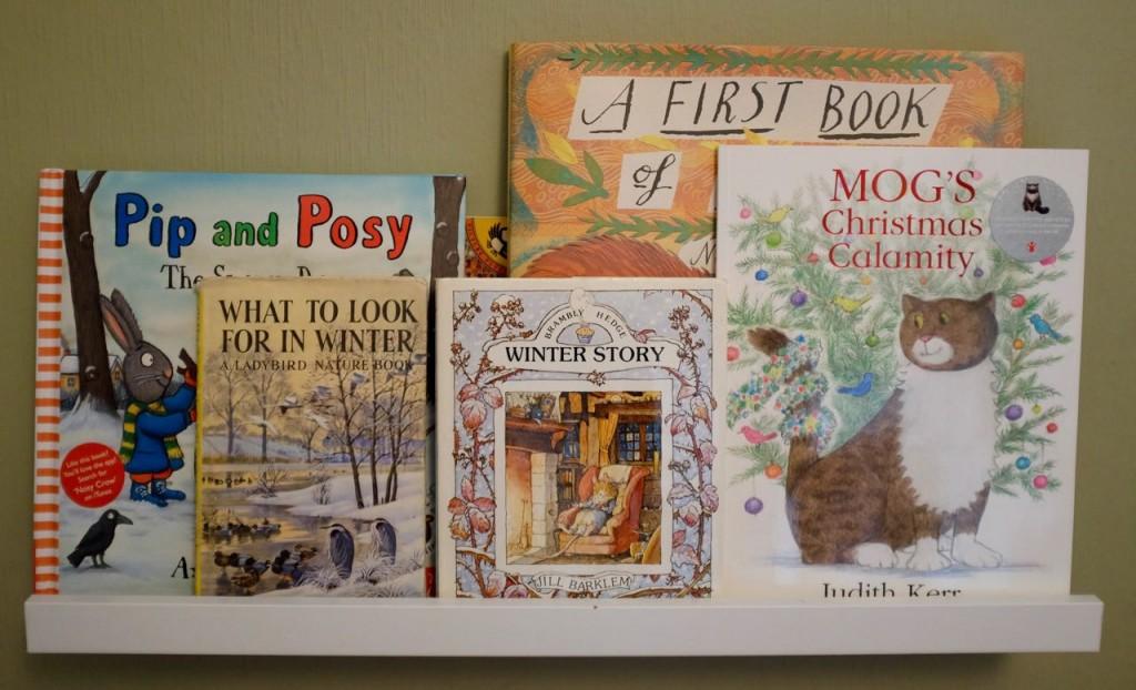 Seasonal bookshelf