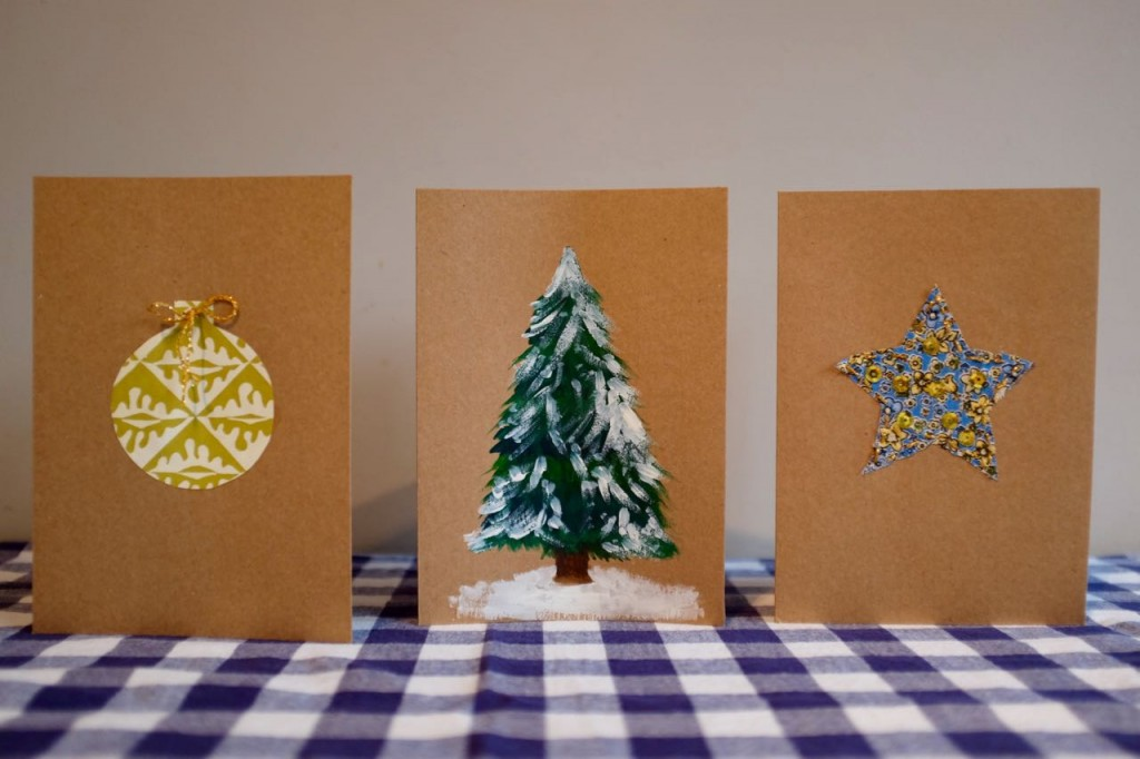 Three ideas for homemade Christmas cards