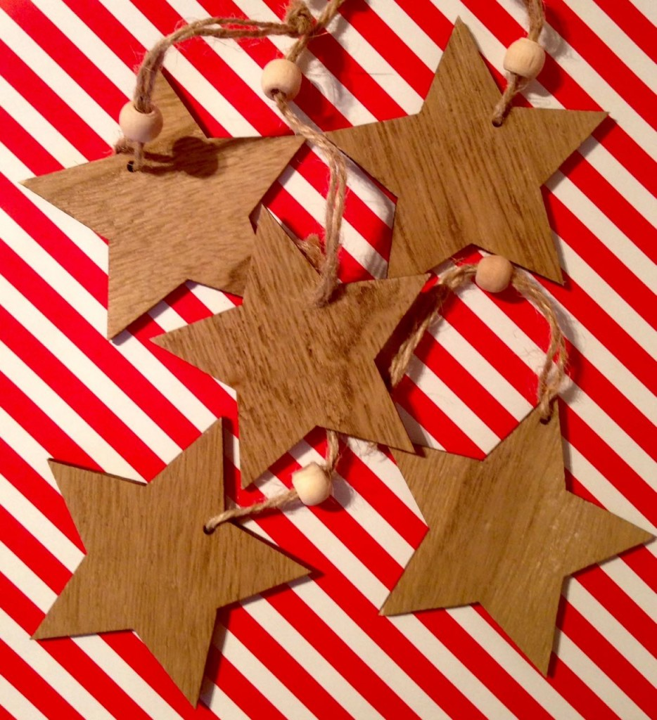 Wooden star gift tags