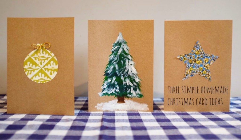 Three ideas for simple homemade christmas cards