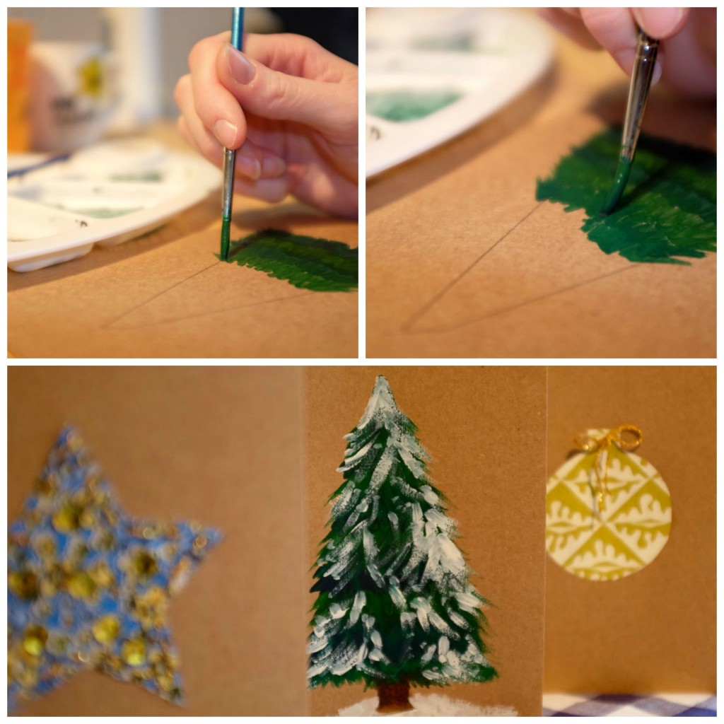 Snowy fir tree Christmas card