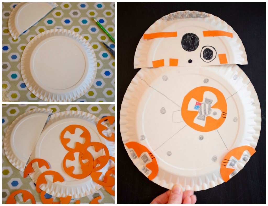BB8 paper plate craft