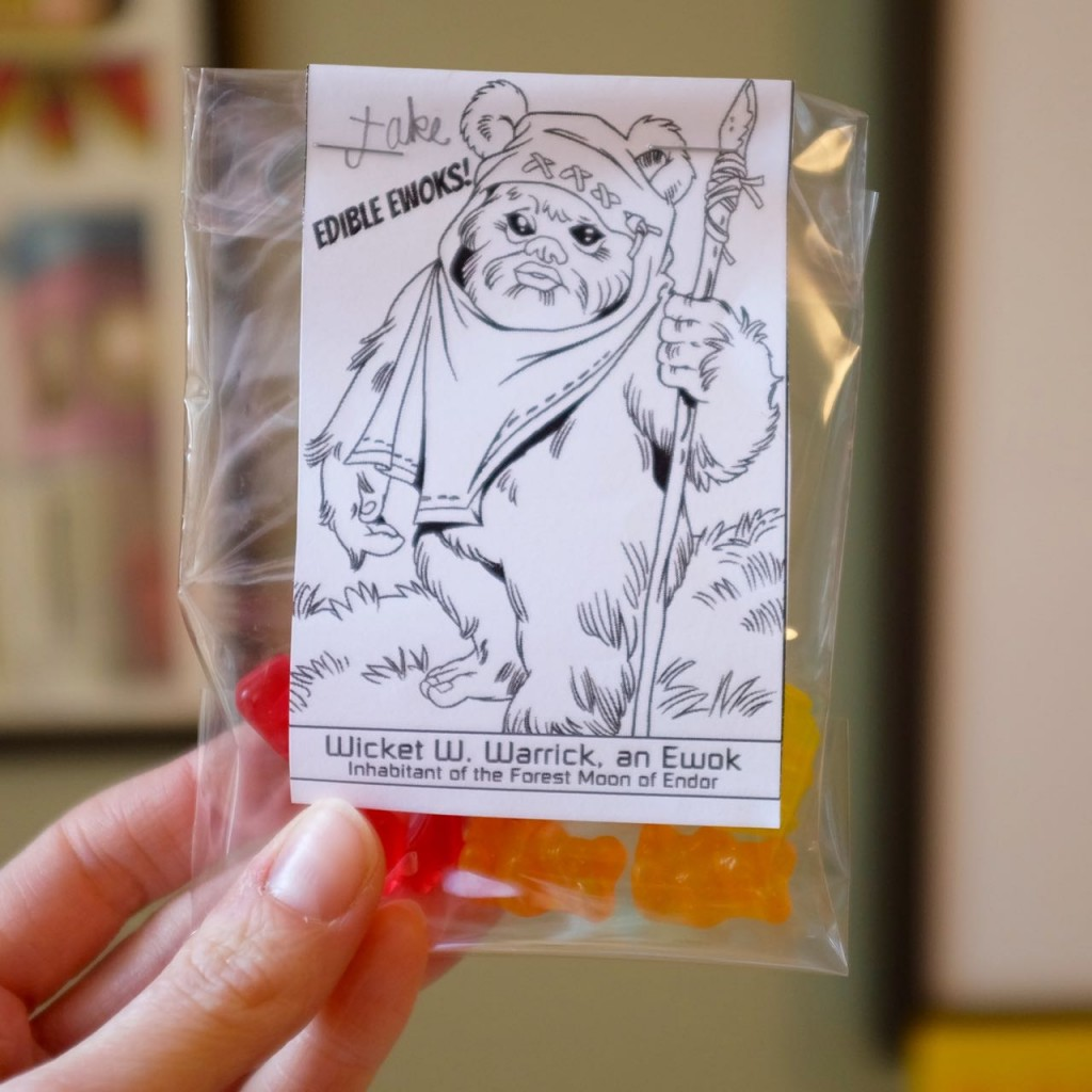 Edible Ewok sweet party favours