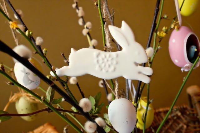 Marmalade Pie leaping rabbit decoration