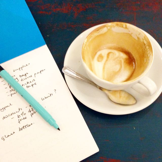 Coffee and lists