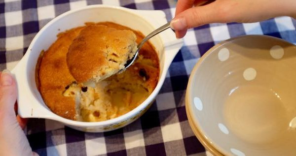 The easiest apple pudding
