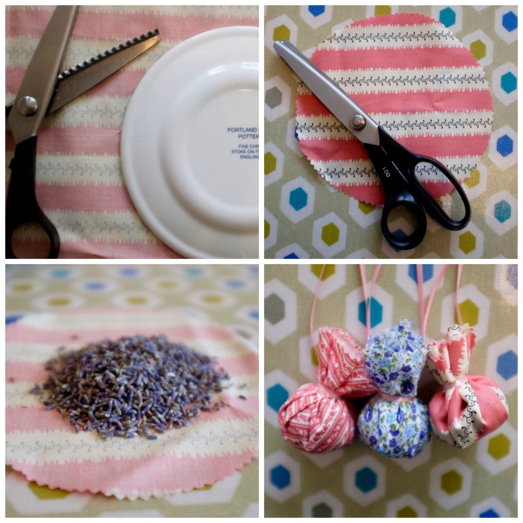 Simple no sew lavender bags