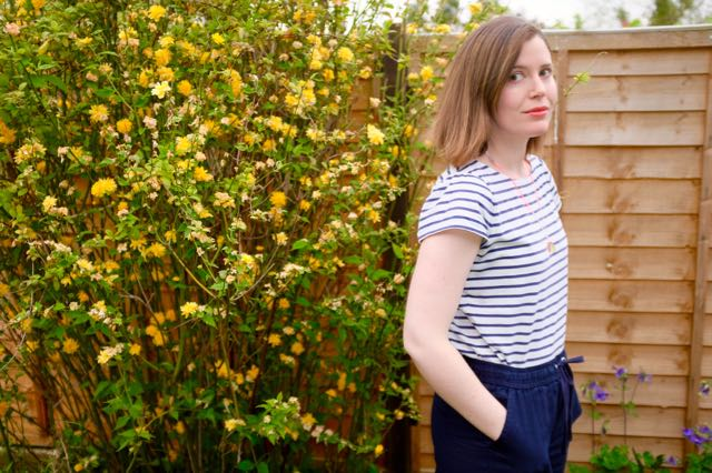 Wide legged linen trousers from Marks and Spencers