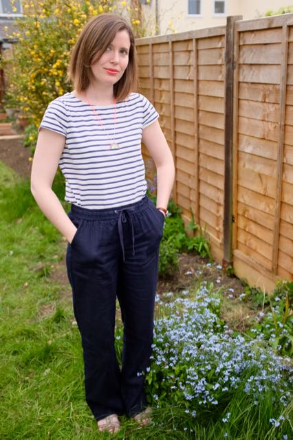 Wide-legged linen trousers from Marks and Spencer