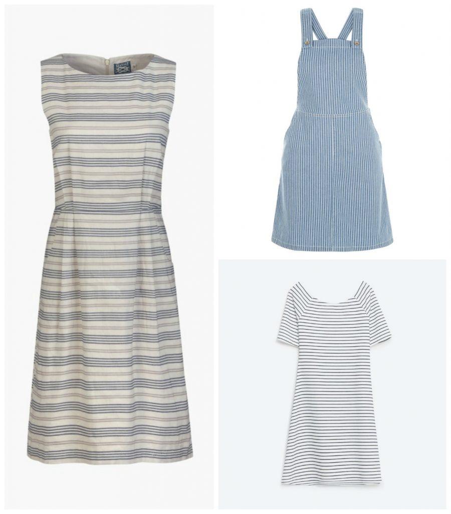 Stripy summer dresses