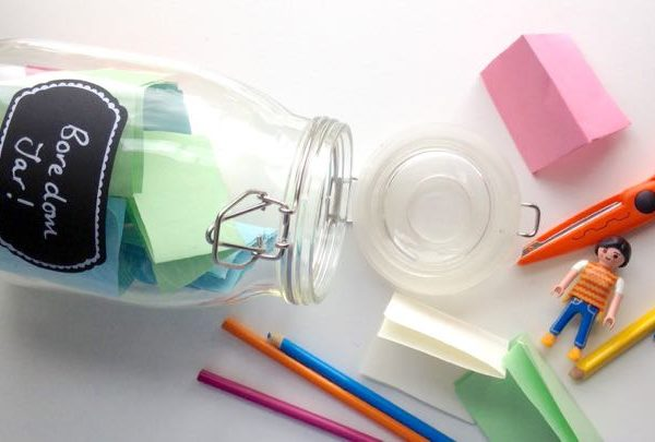 Things to do in the summer holidays: make a boredom jar
