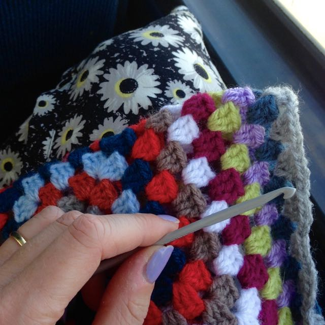 Crochet on a bus