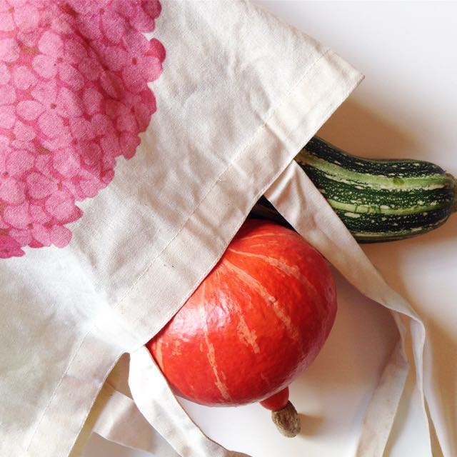Hydrangea shopping bag