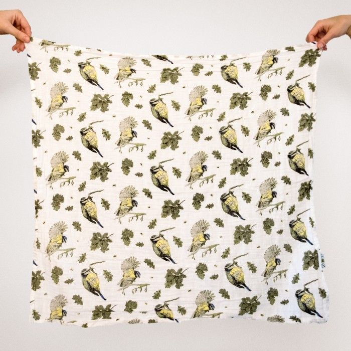 Woodland print muslins by Zoe Olivia Elsdon