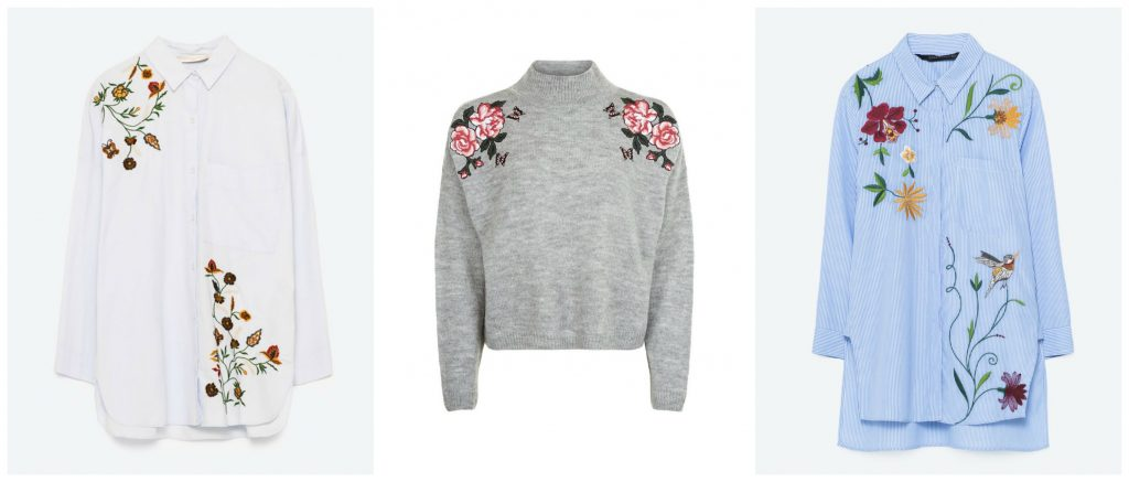 Floral embroidery for autumn