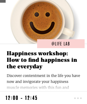 Happiness workshop: How to find happiness in the everyday