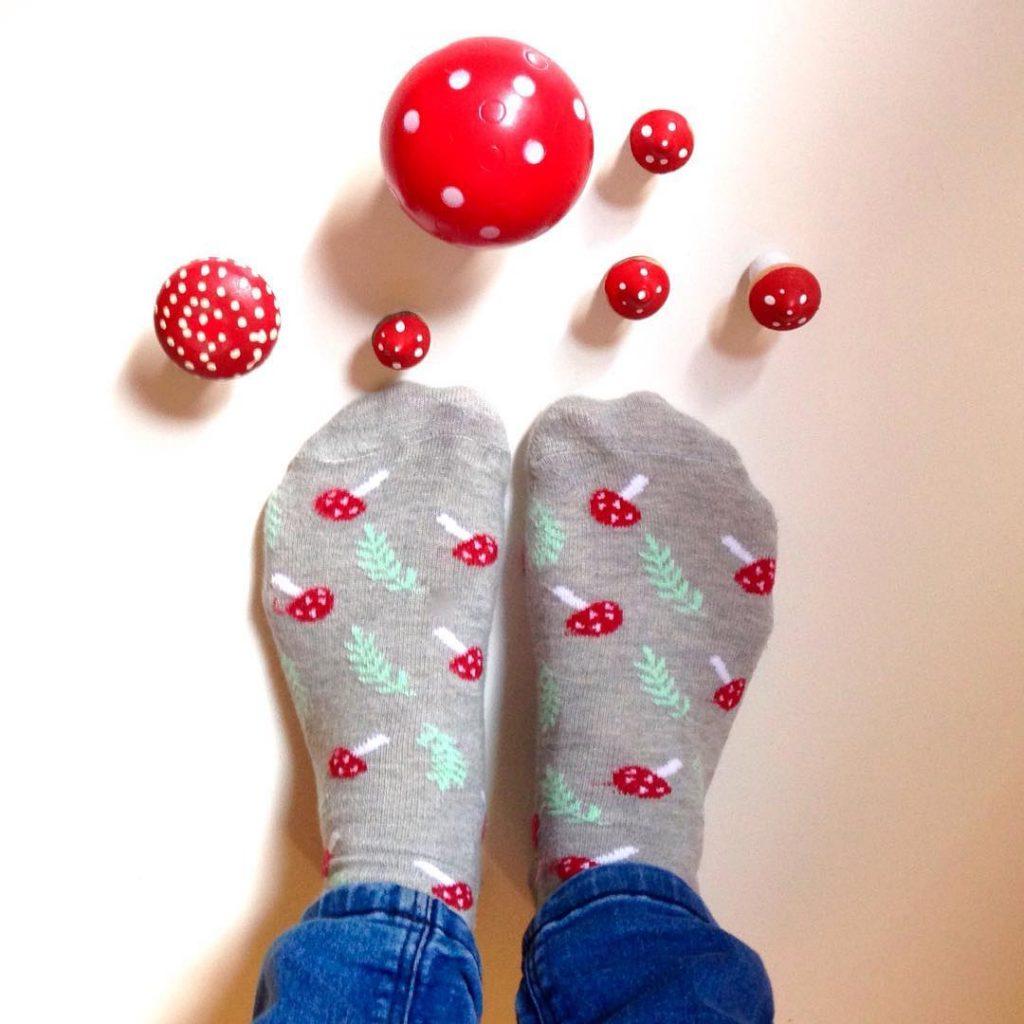 Toadstool socks