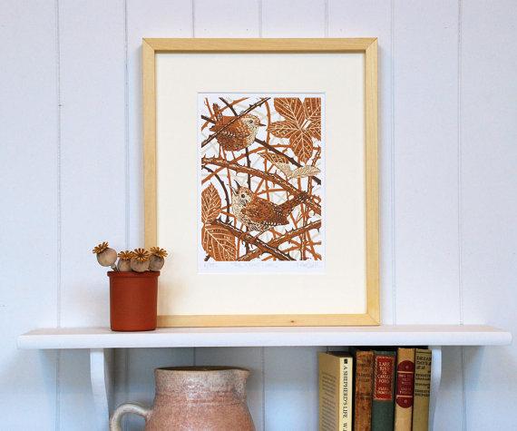 Little Ram studio Wren print
