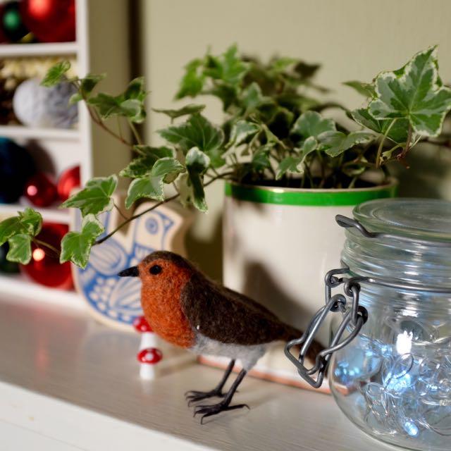 A festive mantelpiece