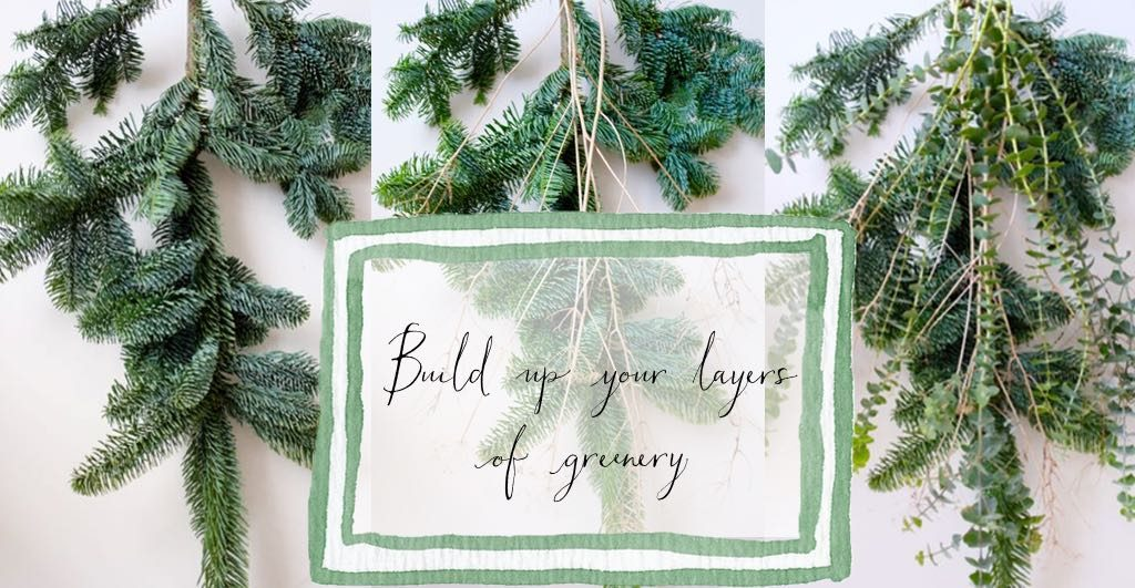 Make a gathered bunch of greenery