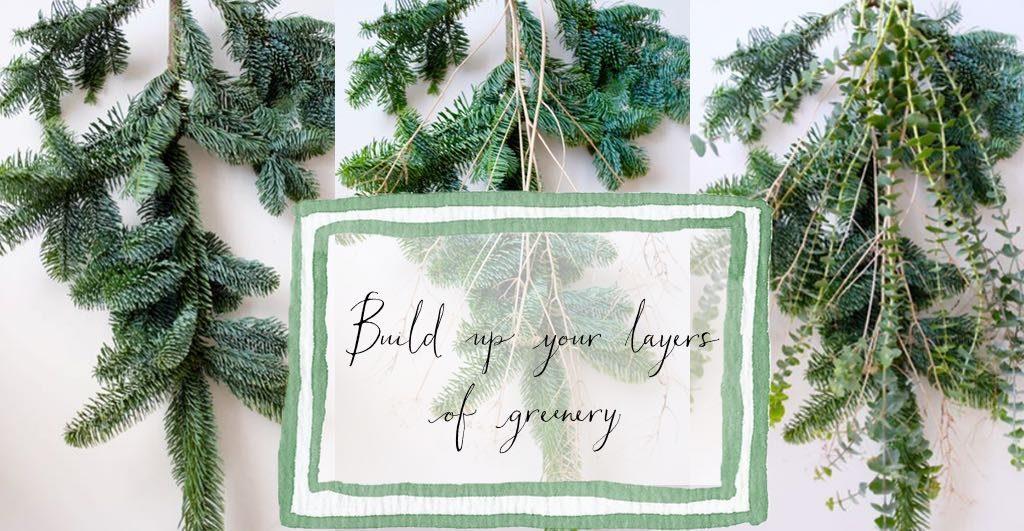 Make a gathered bunch of greenery