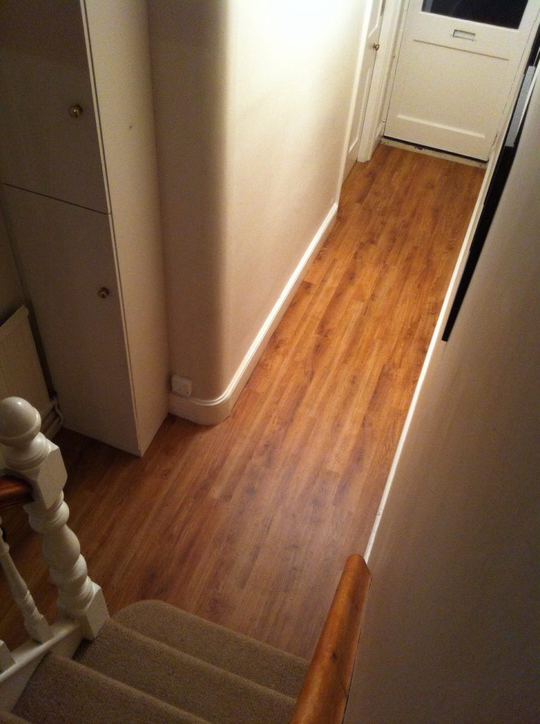 A dark narrow hallway