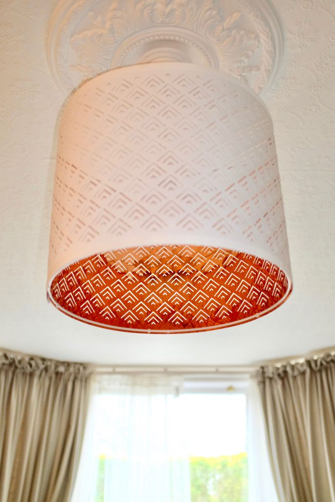 IKEA copper lampshade\