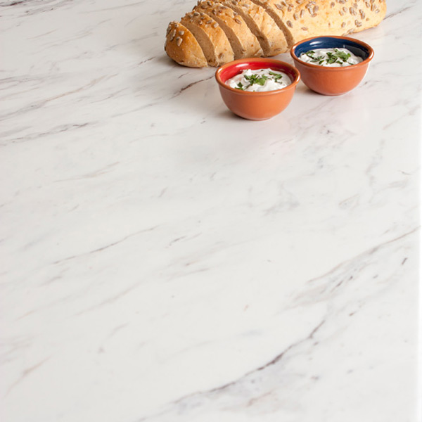 Marble laminate worktop