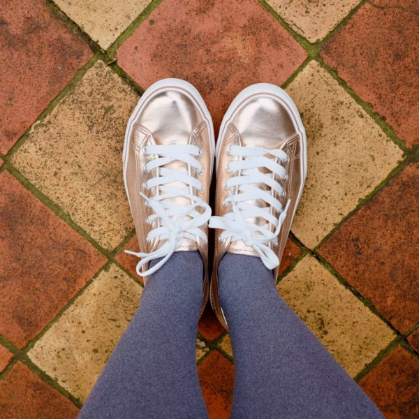 Rose gold trainers by Peacocks