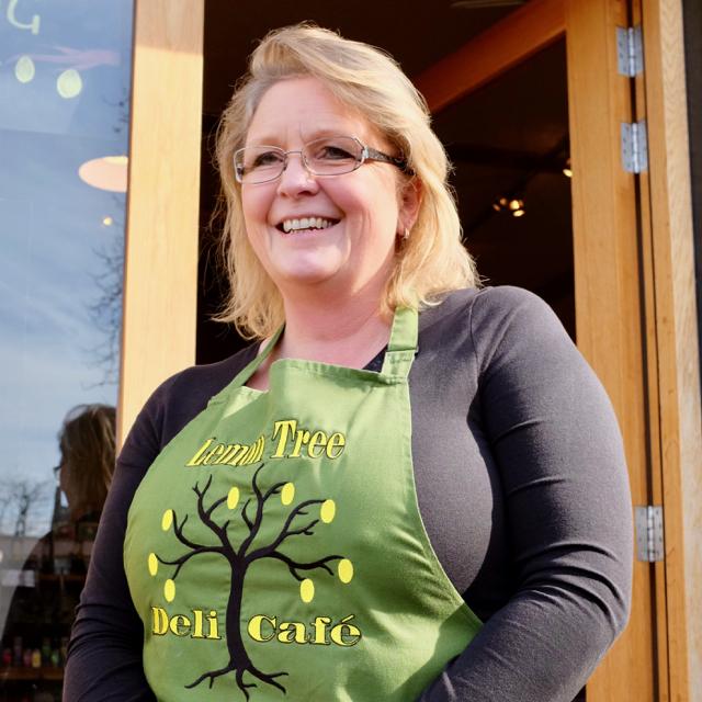 Debbie, owner of the Lemon Tree Deli in Ely