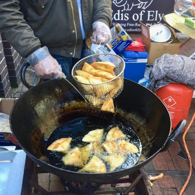 Samosas on Ely market
