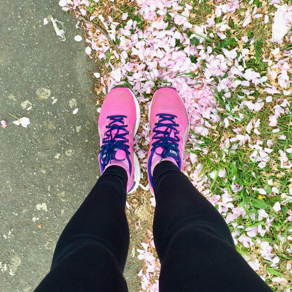 Running through blossom