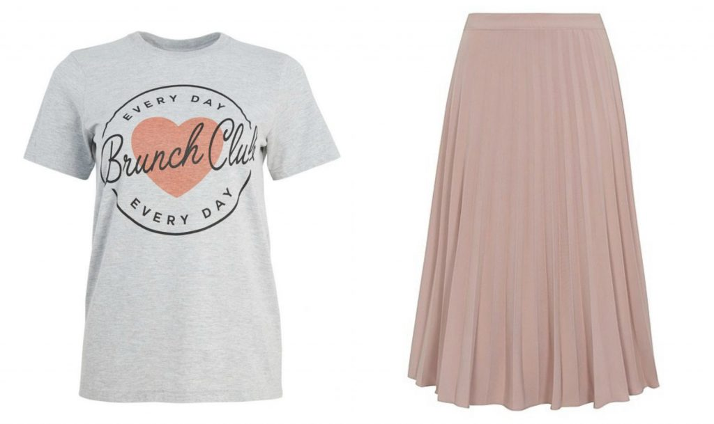 ec07775961 Will you be trying a pink pleated skirt? They're the perfect transitional  piece. Wear with tights now and sandals later!