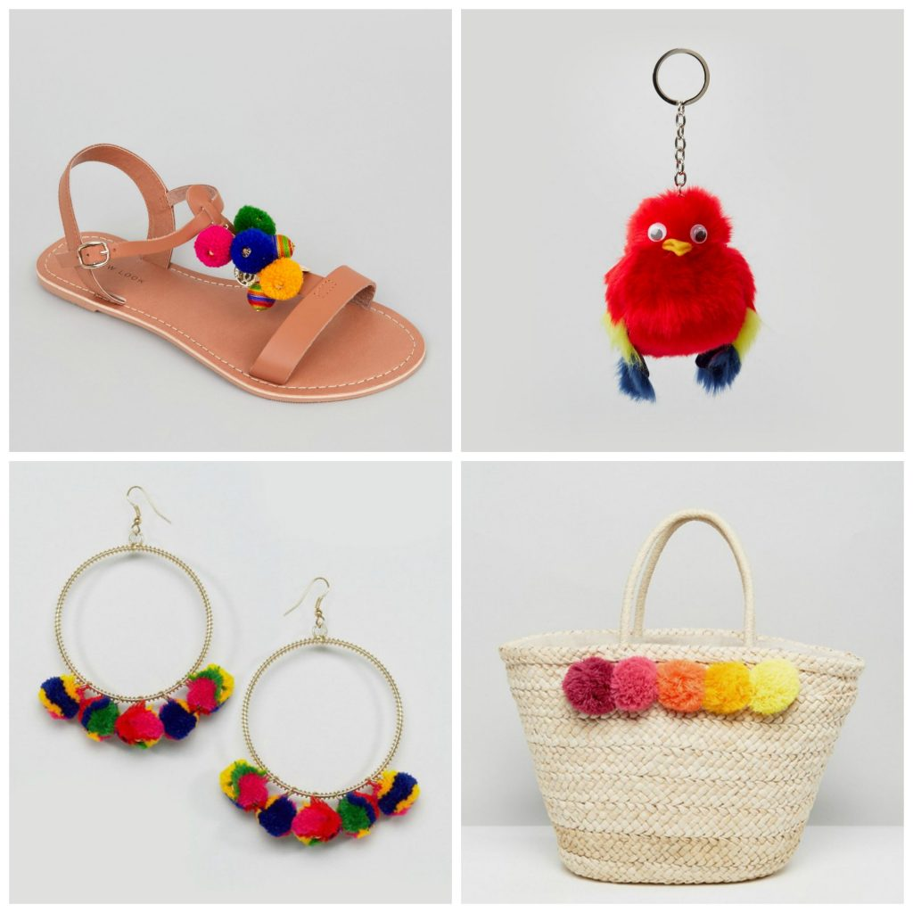 Summer pom pom accessories