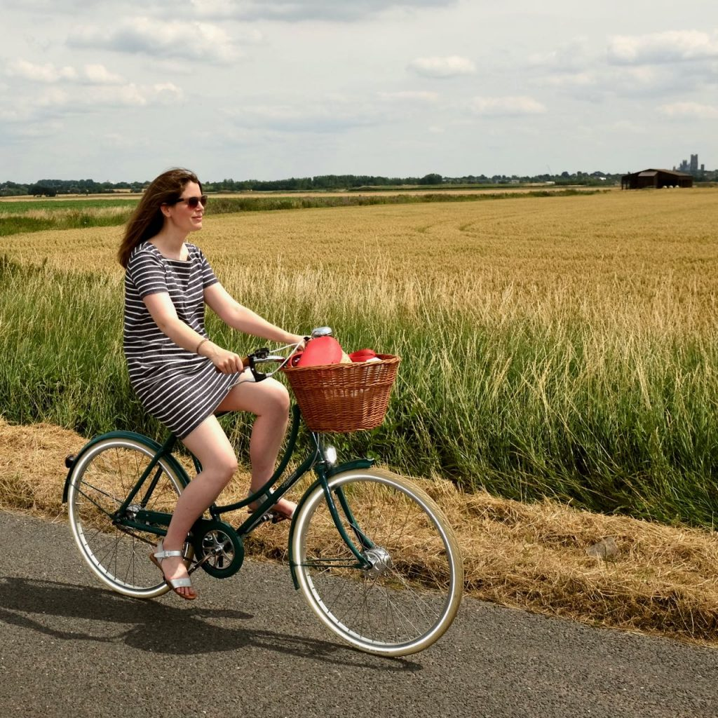 Joanie Clothing Dress and Pashley Bicycle