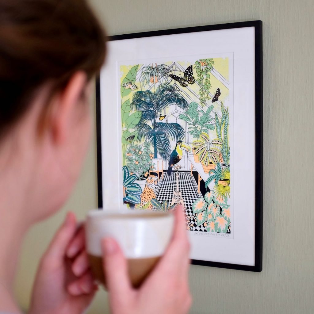 Home notes for July: Jacqueline Colley screen print