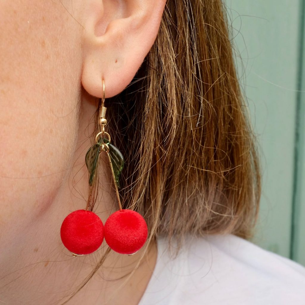 ASOS cherry earrings