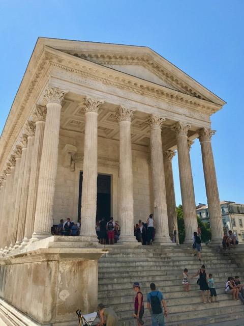 the Maison Carrée