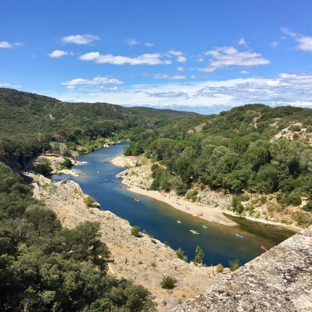 View from the top of the Pont du Gard
