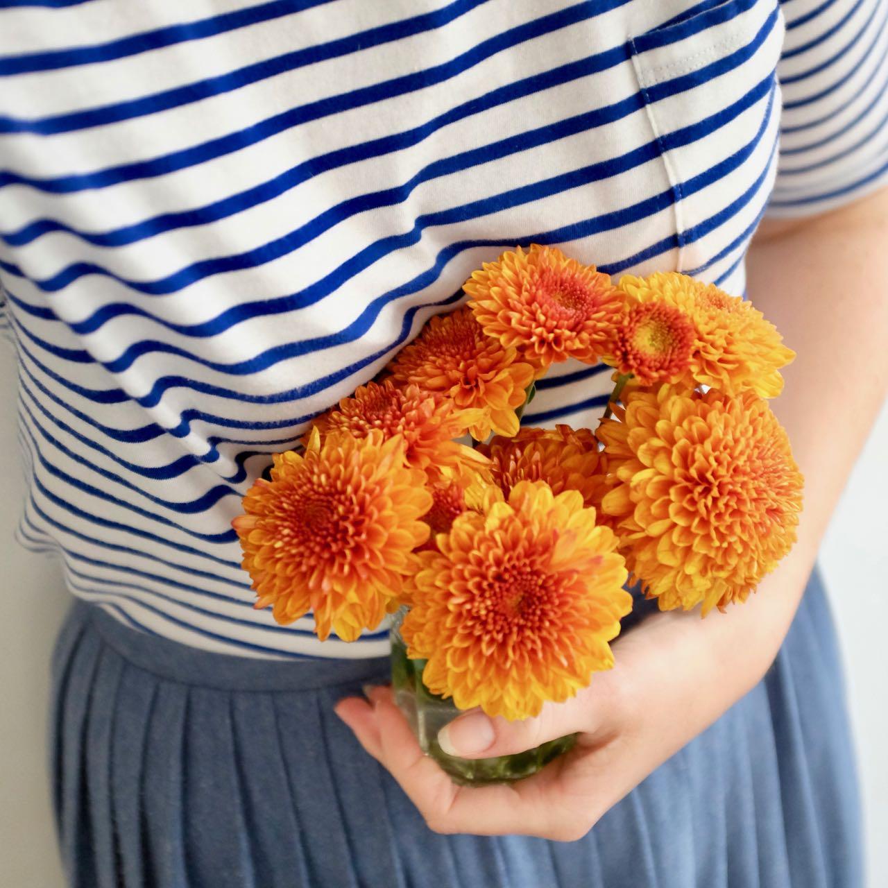 Simple September pleasures: orange flowers