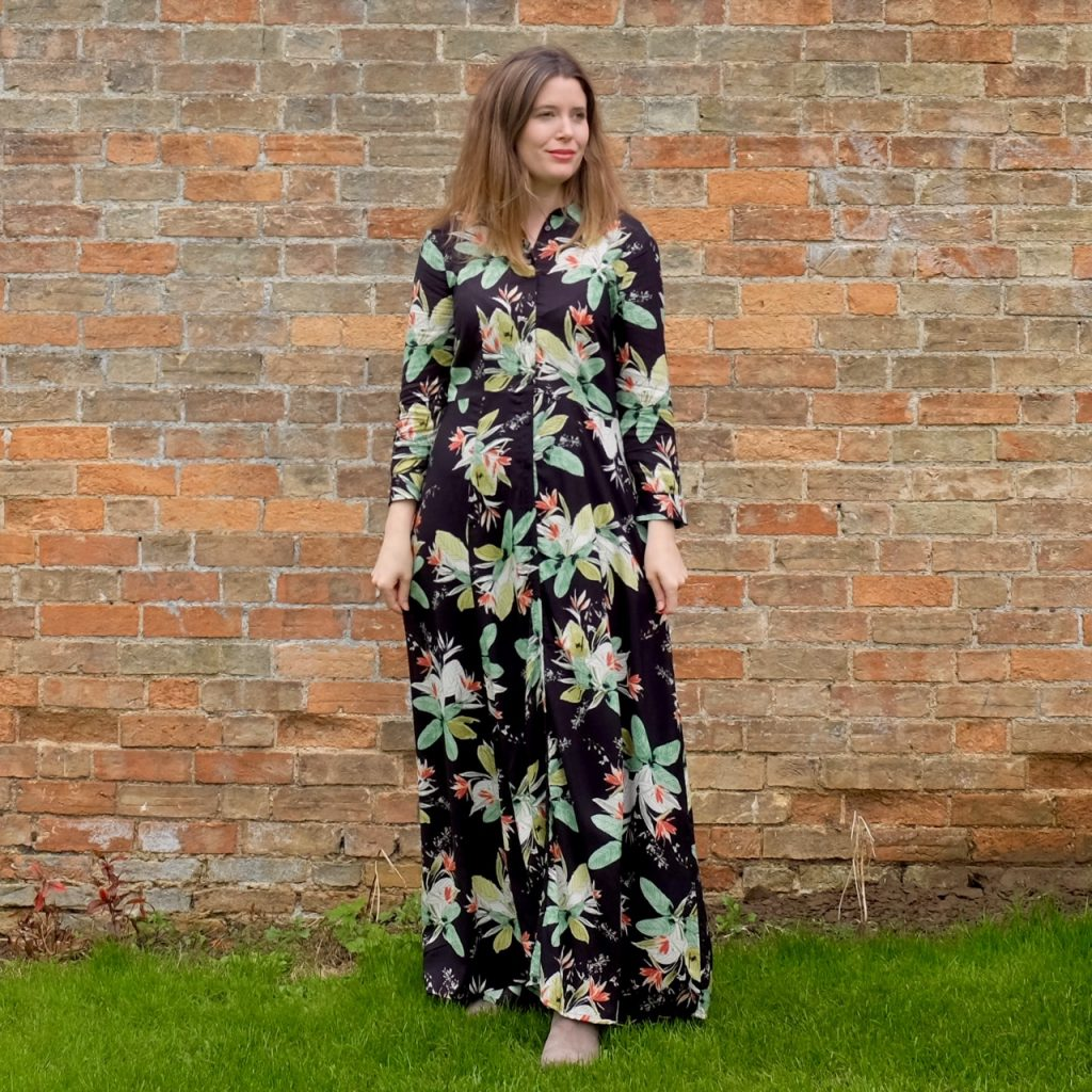 Seventies style maxi shirt dress by Peacocks